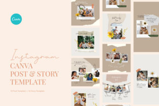 Print on Demand: Family Photo Session Instagram Canva Graphic Graphic Templates By peterdraw