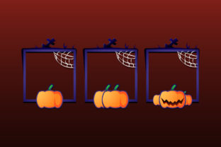 Game Ui Halloween Frame with Pumpkin Graphic UX and UI Kits By didik12