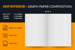 Print on Demand: Graph Paper Composition Interior for KDP Graphic KDP Interiors By Mstartwork