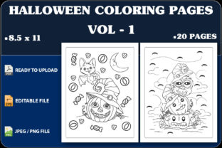 Halloween Coloring Pages Vol.1 Graphic Coloring Pages & Books Kids By triggeredit
