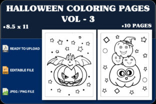 Halloween Coloring Pages Vol.3 Graphic Coloring Pages & Books Kids By triggeredit