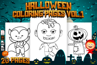 Print on Demand: Halloween Coloring Pages for Kids Vol. 1 Graphic Coloring Pages & Books Kids By Cute Coloring