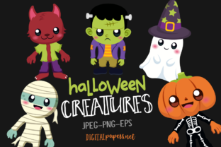 Print on Demand: Halloween Creatures Graphic Illustrations By DigitalPapers