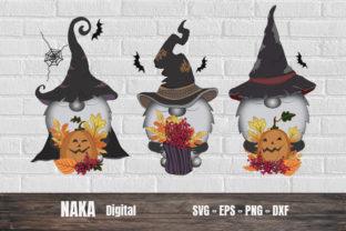Halloween Gnome Graphic 3D SVG By NAKA SHOP