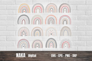 Rainbow Color Pastel Graphic 3D SVG By NAKA SHOP