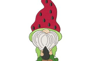 Watermelon Gnome Summer Embroidery Design By Thread Treasures Embroidery