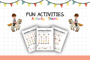 Worksheet Activity Pattern for Kids Graphic K By materialforkidsid