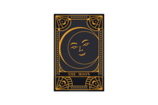 Witchy Tarot Card the Moon Designs & Drawings Craft Cut File By Creative Fabrica Crafts