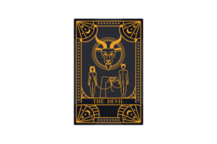 Witchy Tarot Card the Devil Designs & Drawings Craft Cut File By Creative Fabrica Crafts