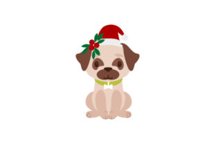 Christmas Pug Christmas Craft Cut File By Creative Fabrica Crafts