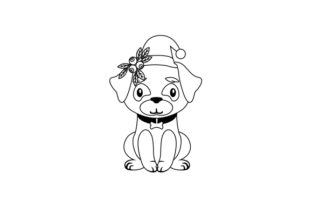 Christmas Pug Christmas Craft Cut File By Creative Fabrica Crafts 2