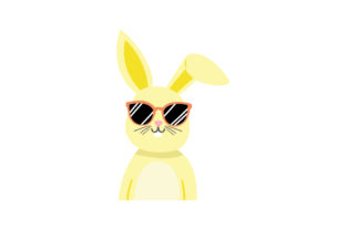 Easter Bunny Wearing Glasses Easter Craft Cut File By Creative Fabrica Crafts