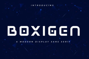 Print on Demand: Boxigen Display Font By vultype 1