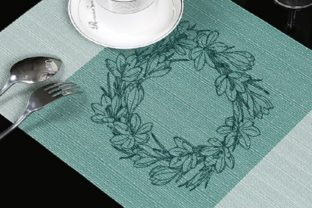Crocus Wreath Floral Wreaths Embroidery Design By Beautiful Embroidery