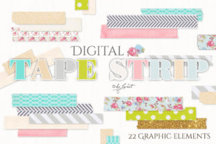 Digital Tape Strip Graphic Web Elements By helloPAPER
