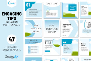 Print on Demand: Engaging Tip Instagram Post Template Graphic Presentation Templates By SnapyBiz