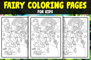 Fairy Coloring Pages for Kids Vol - 1 Graphic Coloring Pages & Books Kids By Treaty Art