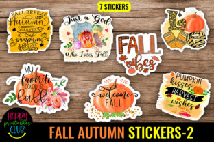 Fall Autumn Stickers 2-Printable Fall Graphic Crafts By Happy Printables Club