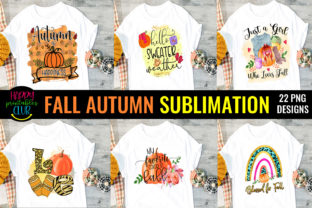 Fall Autumn Sublimation Bundle -Fall Sub Graphic Crafts By Happy Printables Club