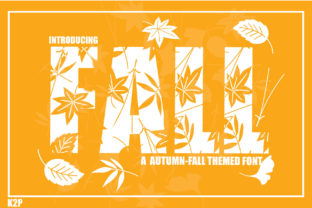 Print on Demand: Fall Decorative Font By KtwoP 1