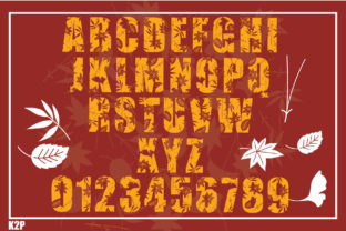 Print on Demand: Fall Decorative Font By KtwoP 4