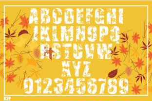 Print on Demand: Fall Decorative Font By KtwoP 6