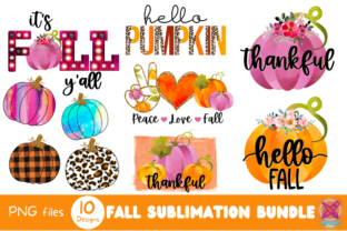 Fall Sublimation Bundle Graphic Crafts By Rumi Designed