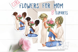 Flowers for Mother from Daughter Graphic Illustrations By CosyArtStore by RivusDea