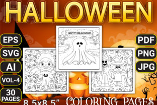 Print on Demand: Halloween Coloring Pages Vol-4 Graphic Coloring Pages & Books Kids By Simran Store