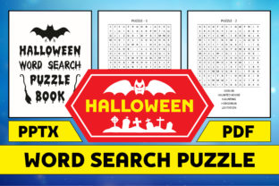 Print on Demand: Halloween Word Search Puzzle Book KDP Graphic KDP Interiors By marbledesign