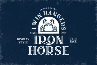 Print on Demand: Iron Horse Display Font By Alit Design