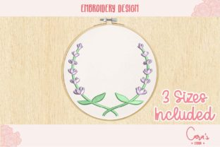 Lavender Crown Floral Wreaths Embroidery Design By carasembor