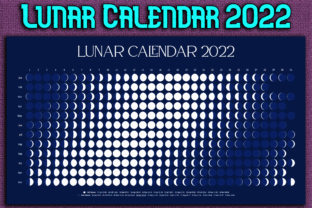 Print on Demand: Lunar (Moon) Calendar 2022 Graphic Objects By Mary's Designs