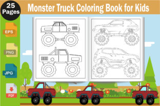 Monster Truck Coloring Page for Kids Graphic Coloring Pages & Books Kids By mdrakibul1n1a