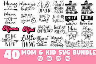 Print on Demand: Mother and Child Couple SVG Bundle Graphic Crafts By freelingdesignhouse