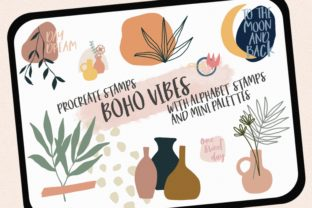 Procreate Stamps Boho Vibes Graphic Brushes By Jyllyco