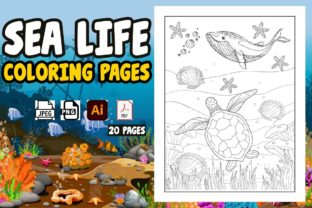 Sea Life Coloring Pages for Kids Vol-1 Graphic Coloring Pages & Books Kids By Treaty Art