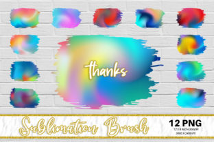 Sublimation Brush, Swirl Color Graphic Backgrounds By Artnoy