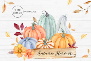 Watercolor Autumn Pumpkin Clipart Graphic Illustrations By SipkaDesigns 1
