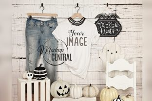 Woman's T-Shirt Halloween Mockup Graphic Product Mockups By Mockup Central