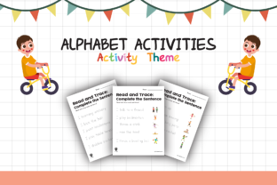 Worksheet Activity Read and Trace for Kids Graphic K By materialforkidsid