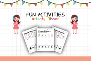 Worksheet Activity Whose Shadow for Kids Graphic K By materialforkidsid