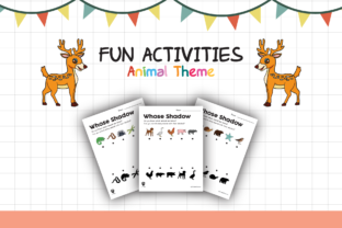 Worksheet Animal Whose Shadow for Kids Graphic K By materialforkidsid