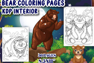 Print on Demand: Bear Coloring Book for Kids - KDP Graphic Coloring Pages & Books Kids By J U M P