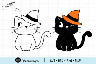 Black Cat Halloween Svg Graphic Illustrations By CatAndMe