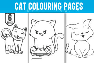 Cute Cat Coloring Pages for Kids - Kdp Graphic Print Templates By ui.sahirsulaiman