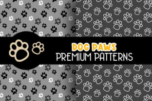 Cute Dog Paws Digital Papers Patterns - 2