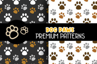 Cute Dog Paws Digital Papers Patterns - 3