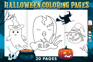 Print on Demand: Cute Halloween Coloring Pages Printable Graphic Coloring Pages & Books Kids By Kristy Coloring