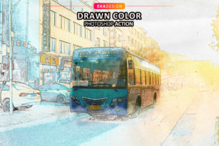 Drawn Color Photoshop Action Graphic Actions & Presets By Eka Design